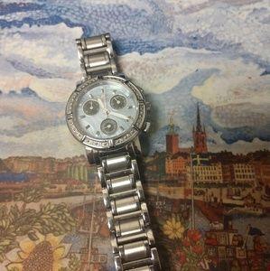 Invicta Accessories - Invicta diamond accent watch, blue mother of pearl